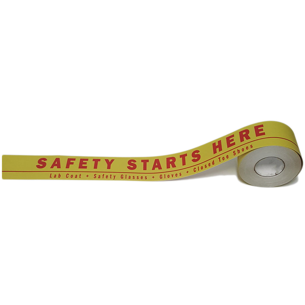 "4"" Safety Starts Here Floor Tape"