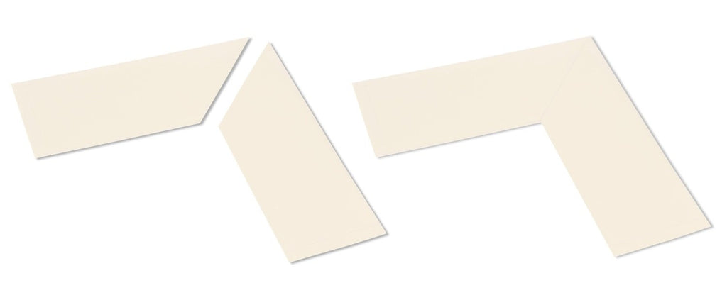 "4"" Wide Solid WHITE  10"" Long Angle - Pack of 25"
