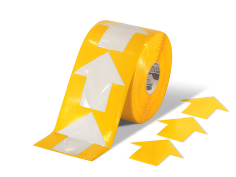 "5.5"" Wide Solid Yellow Arrow Roll 200 Arrows"