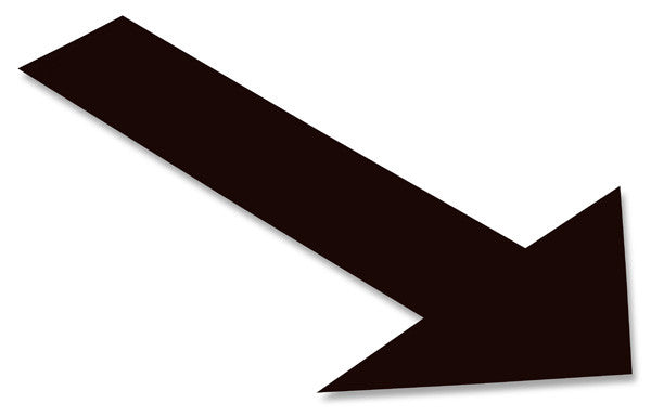 Solid BLACK Arrow - 1 Sign