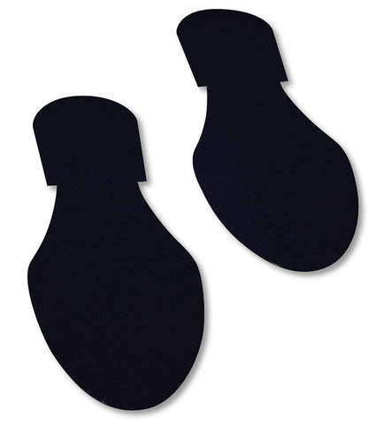 Black Mighty Line Floor Tape Footprints - Pack of 50