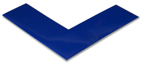 "2"" Blue Floor Marking Tape Corners"
