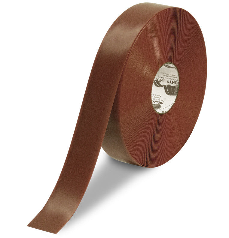 "CUSTOMIZED - 2"" BROWN Solid Color Repeating Message Tape - 100'  Roll"
