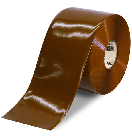 "6"" BROWN Solid Color Floor Tape - 100' Roll"