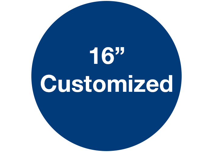 "CUSTOMIZED - 16"" Wide Blue Circle - Set of 3"