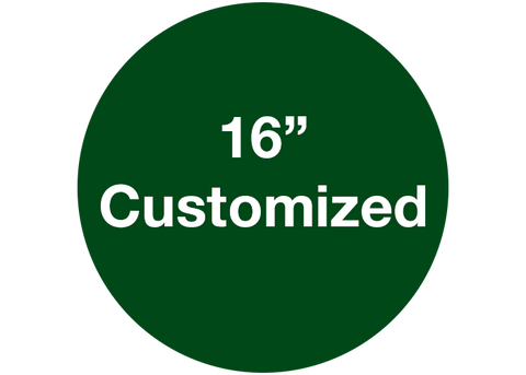 "CUSTOMIZED - 16"" Wide Green Circle - Set of 3"