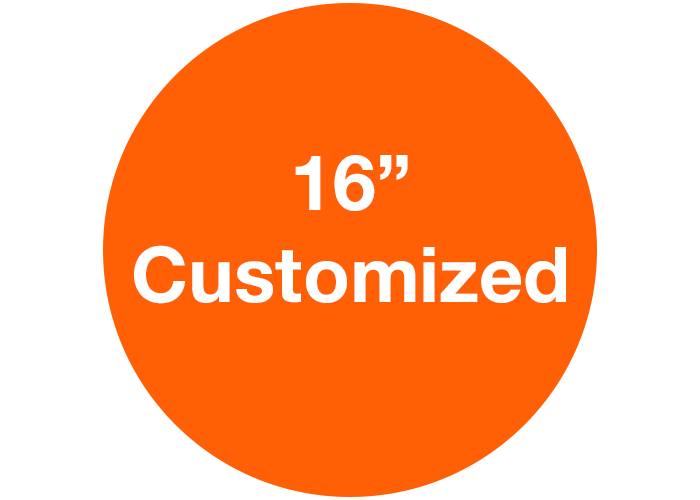 "CUSTOMIZED - 16"" Wide Orange Circle - Set of 3"