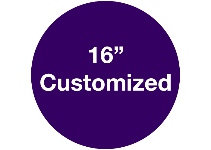 "16"" Custom Circle Floor Safety Marking, Purple"