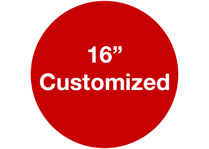 "16"" Customizable Red Walk On Floor Sign, Circle"