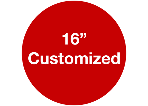 "CUSTOMIZED - 16"" Wide Red Circle - Set of 3"