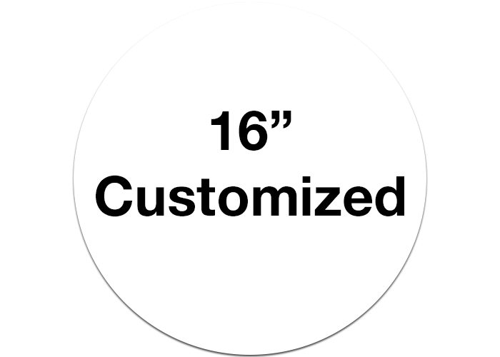 "16"" Custom Circle White Floor Marking Signs"