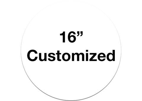 "CUSTOMIZED - 16"" Wide White Circle - Set of 3"