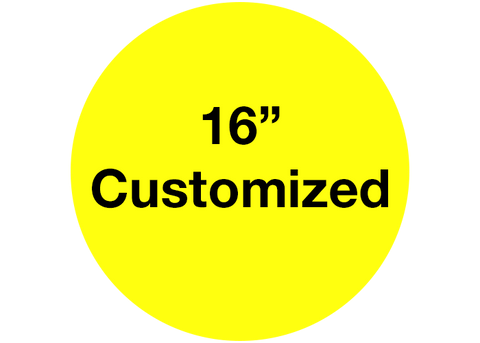 "CUSTOMIZED - 16"" Wide Yellow Circle - Set of 3"