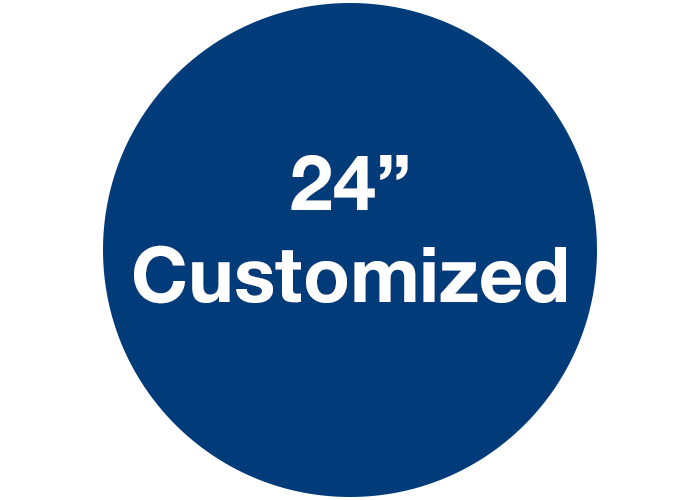 "24"" Blue Custom Adhesive Floor Signs, Circle"