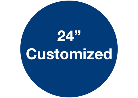 "CUSTOMIZED - 24"" Wide Blue Circle - Set of 2"