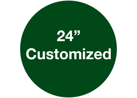 "CUSTOMIZED - 24"" Wide Green Circle - Set of 2"