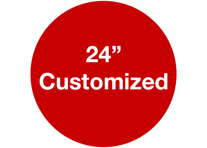 "24"" Customizable Red Safety Floor Sign, Circle"