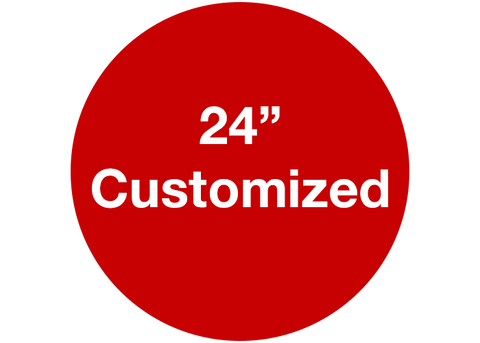 "CUSTOMIZED - 24"" Wide Red Circle - Set of 2"