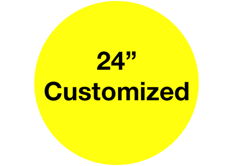 "CUSTOMIZED - 24"" Wide Yellow Circle - Set of 2"
