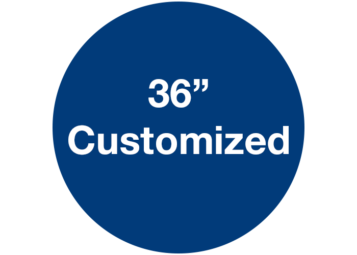 "36"" Customizable Blue Walk On Floor Sign, Circle"