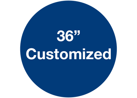 "CUSTOMIZED - 36"" Wide Blue Circle - Set of 1"