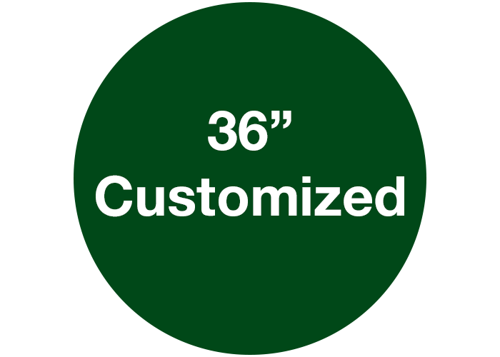 "36"" Green Custom Floor Marking Signs, Circle"