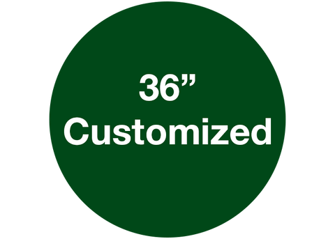 "CUSTOMIZED - 36"" Wide Green Circle - Set of 1"