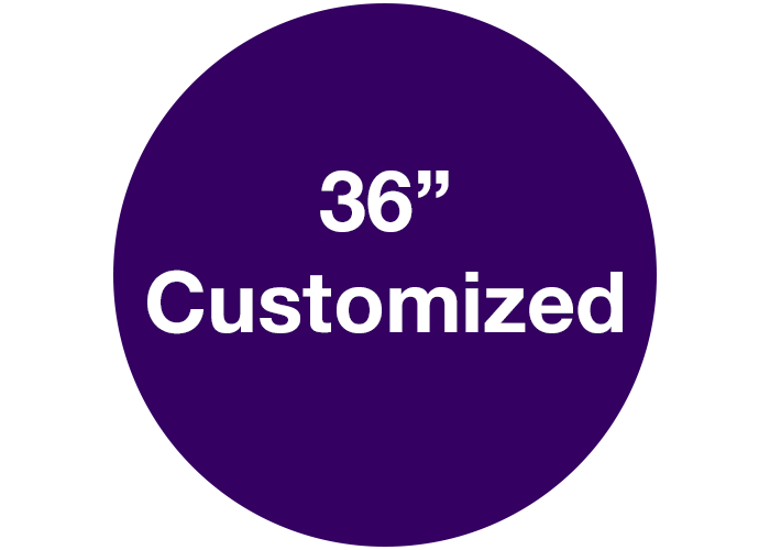 "36"" Purple Circle Custom Floor Signs, Circle"