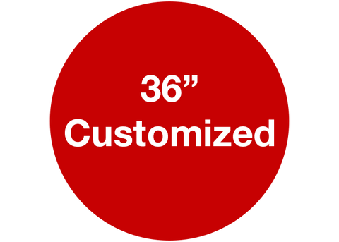 "CUSTOMIZED - 36"" Wide Red Circle - Set of 1"