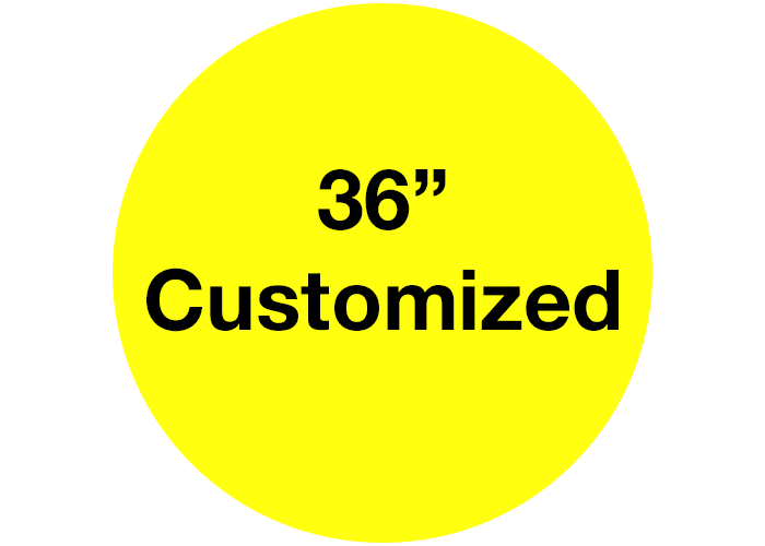 "36"" Mighty Line Yellow Customizable Floor Signs"