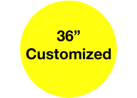 "CUSTOMIZED - 36"" Wide Yellow Circle - Set of 1"