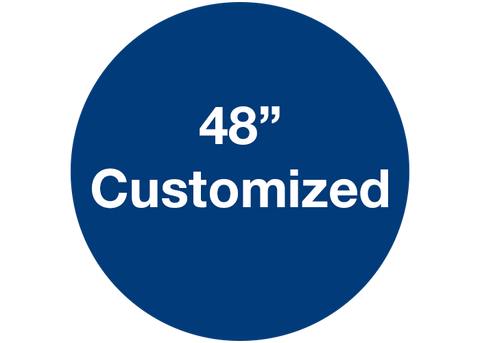 "CUSTOMIZED - 48"" Wide Blue Circle - Set of 1"