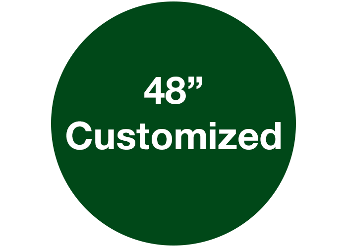"48"" Customizable Circle Floor Marking Sign, Green"