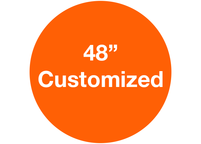 "48"" Orange Customizable Warehouse Floor Sign"