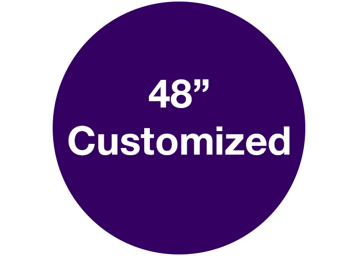 "48"" Purple Customizable Floor Safety Marking"
