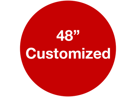 "CUSTOMIZED - 48"" Wide Red Circle - Set of 1"