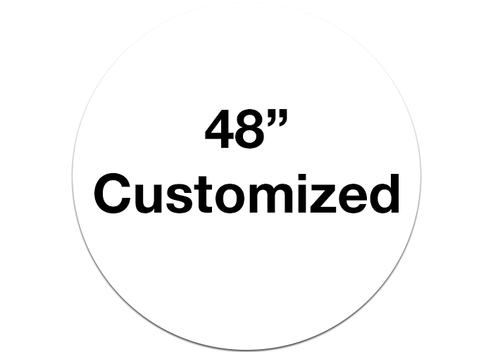 "48"" White Customizable Floor Marking Signs, Circle"