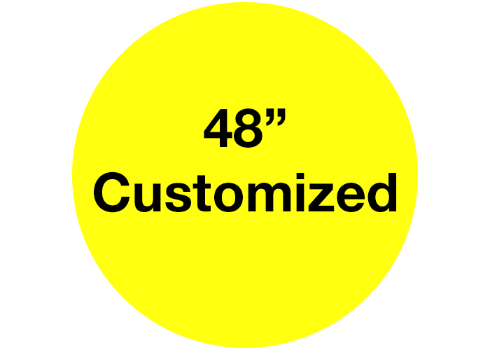 "48"" Customizable Yellow Safety Floor Stickers"