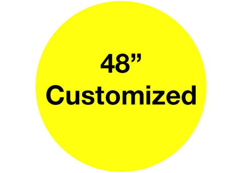 "CUSTOMIZED - 48"" Wide Yellow Circle - Set of 1"