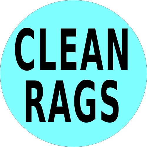Clean Rags Floor Sign