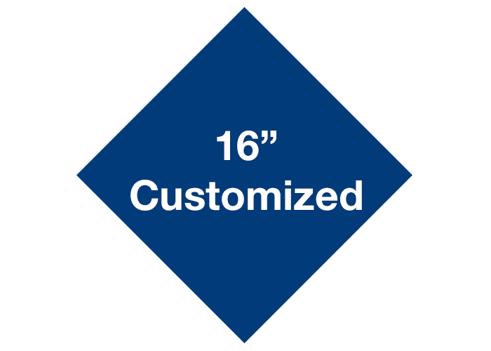 "16"" Blue Diamond Custom Safety Floor Signs"