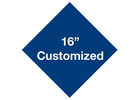 "CUSTOMIZED - 16"" Blue Diamond - Set of 3"