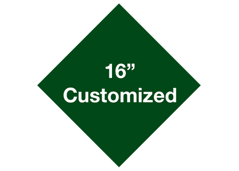 "CUSTOMIZED - 16"" Green Diamond - Set of 3"