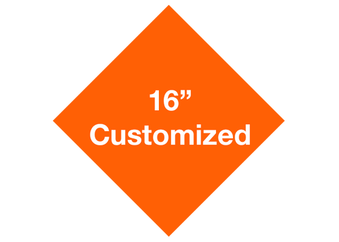 "CUSTOMIZED - 16"" Orange Diamond - Set of 3"