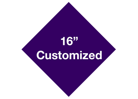 "CUSTOMIZED - 16"" Purple Diamond - Set of 3"