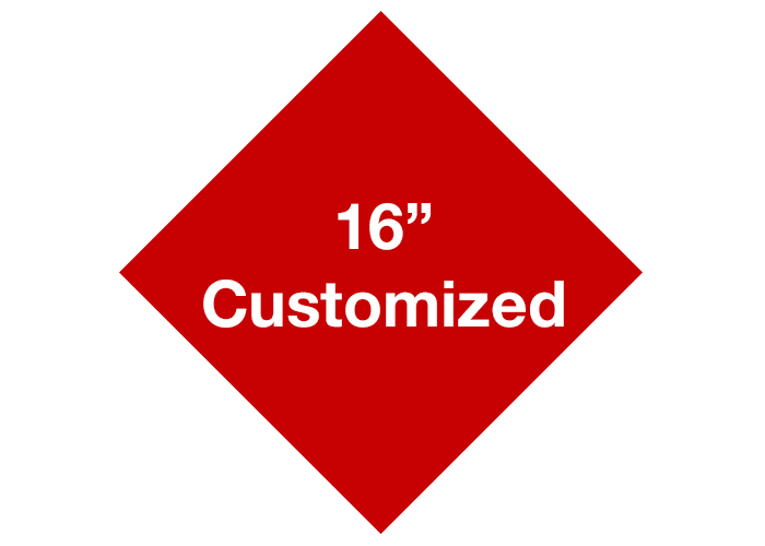 "Red 16"" Diamond Custom Safety Floor Signs"