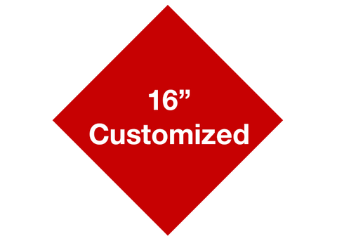 "CUSTOMIZED - 16"" Red Diamond - Set of 3"