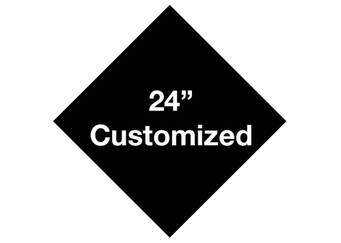 "CUSTOMIZED - 24"" Black Diamond - Set of 2"