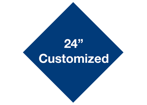 "CUSTOMIZED - 24"" Blue Diamond - Set of 2"