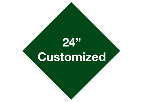 "CUSTOMIZED - 24"" Green Diamond - Set of 2"